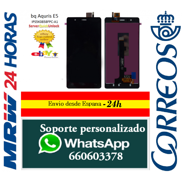 Pantalla Táctil para Nokia 720 Negro